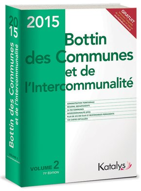 Bottin des communes et de l'intercommunalité 2015 - Volume 2