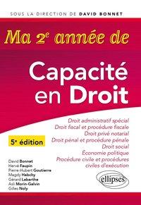 Ma Premiere Annee De Capacite En Droit Anne Jussiaume Librairie Eyrolles