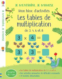 Les tables de multiplication (3,4,6 et 8)