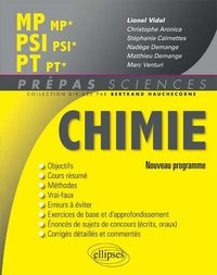 Chimie MP-MP*, PSI-PSI*, PT-PT*