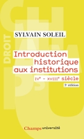 Introduction historique aux institutions