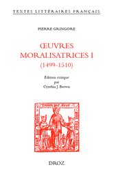 Œuvres moralisatrices i (1499-1510)