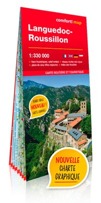 Languedoc-roussillon 1/330.000 (carte grand format