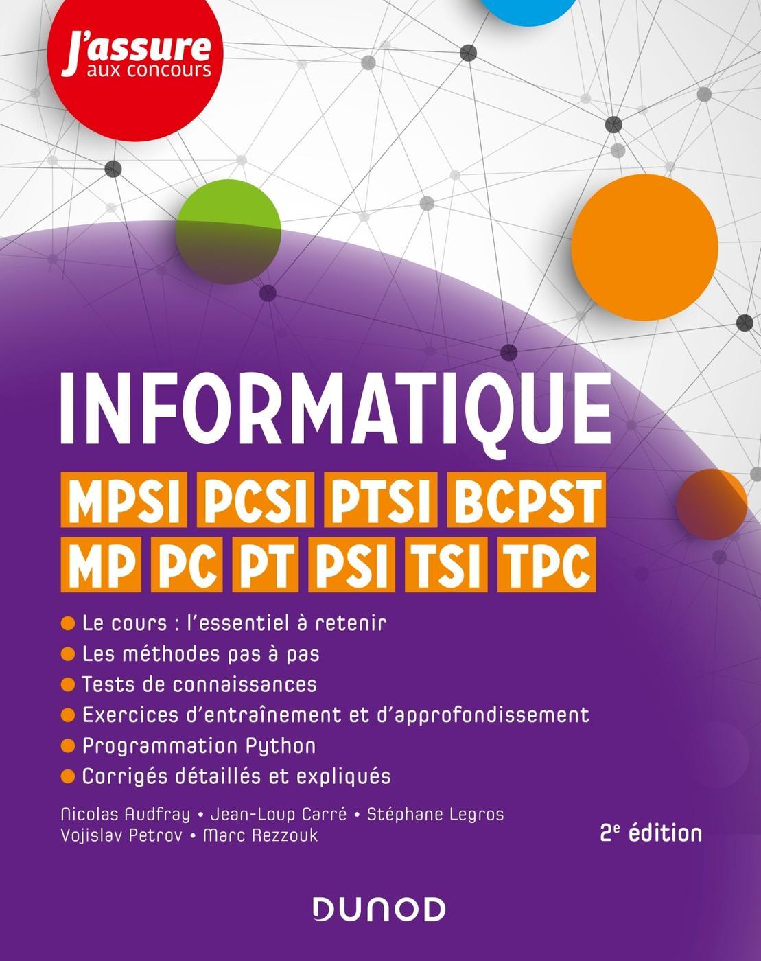 Informatique Mpsi Pcsi Ptsi Bcpst Mp Pc Pt Psi Tsi Tpc 1 Librairie Eyrolles