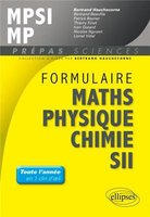 Formulaire maths, physique, chimie, SII - MPSI-MP
