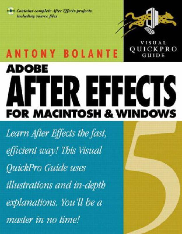 After Effects 5 - for MacIntosh and Windows: Visual Quickpro Guide -    -  Librairie Eyrolles