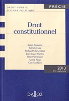 Droit constitutionnel - 2013