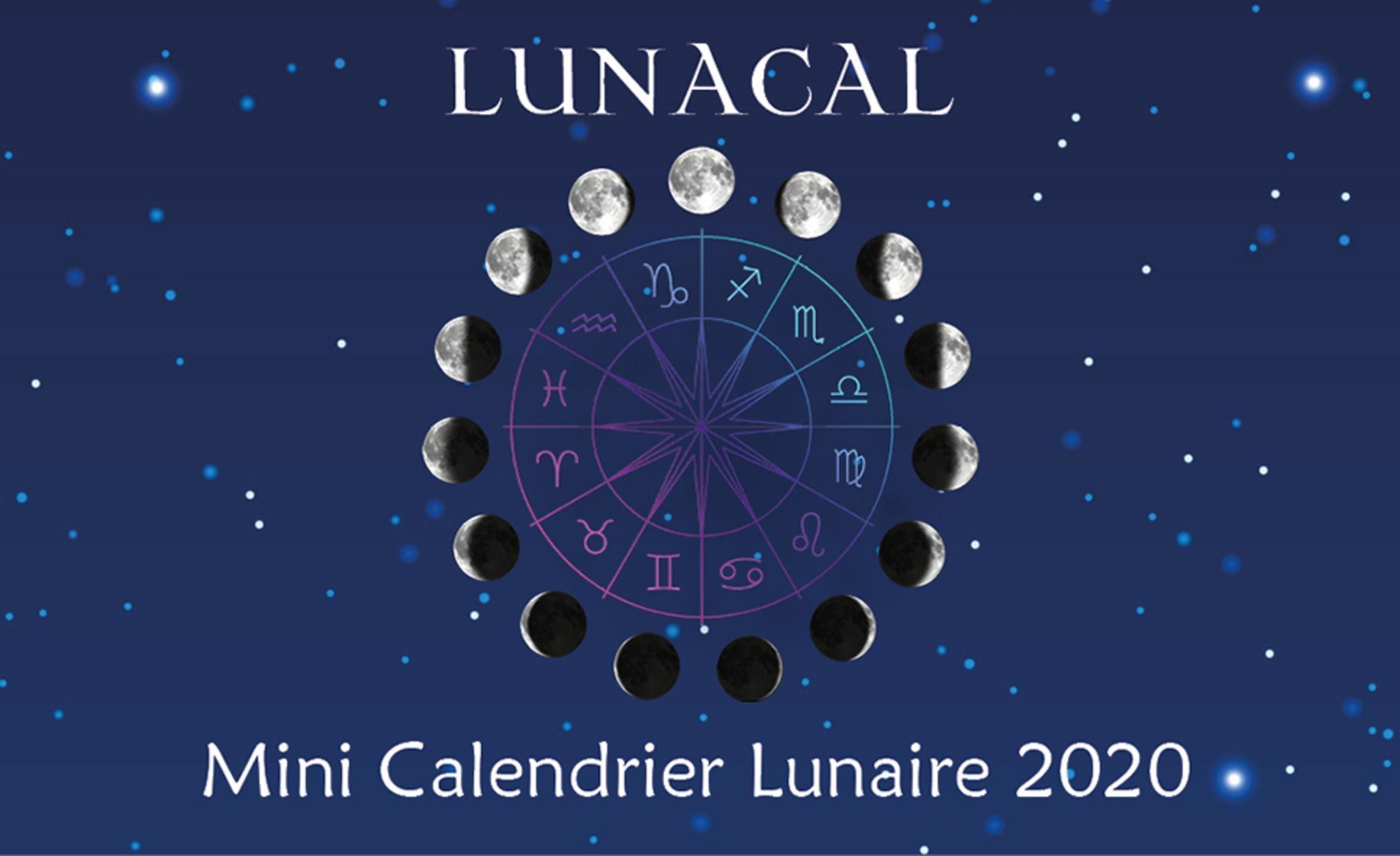 Calendrier Lune 2020.Lunacal Mini Calendrier Lunaire 2020 Collectif Alliance Magique Librairie Eyrolles