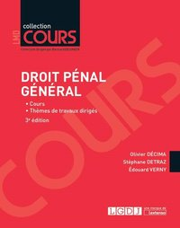 Droit penal general - 3eme edition