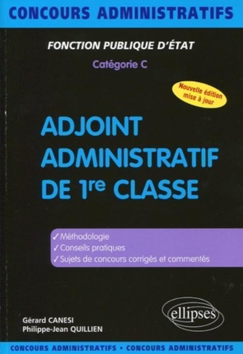 2355cd40091 Adjoint administratif de 1re classe - Catégorie C - G.Canesi ...