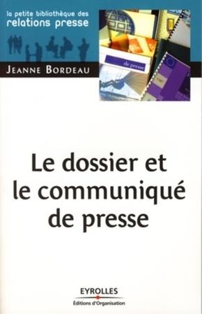 Jeanne Bordeau- Le dossier et le communiqué de presse