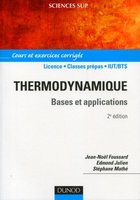 Thermodynamique - Bases et applications