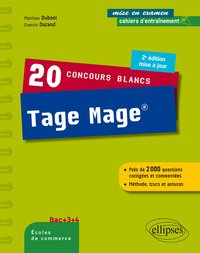 20 concours blancs Tage Mage