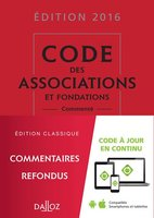 Code des associations et fondations - 2016