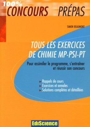 Tous les exercices de chimie - MP-PSI-PT