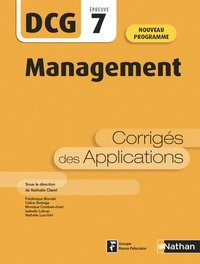 Management - dcg - épreuve 7 - corrigés des applications 2020