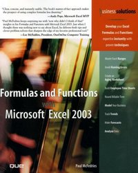 Formulas and functions with Microsoft Excel 2003