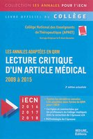 Lecture critique d'un article médical