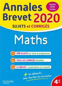 Annales brevet 2020 maths