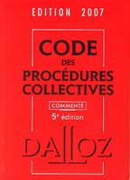 Code des procédures collectives - 2007