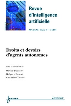 Droits et devoirs d'agents autonomes (revue d'intelligence artificielle-rsti serie ria vol. 24 n. 3/