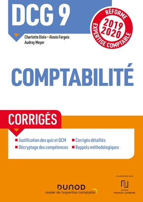 DCG 9 - Introduction à la comptabilité - Corrigés