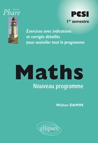 Maths PCSI - 1er semestre