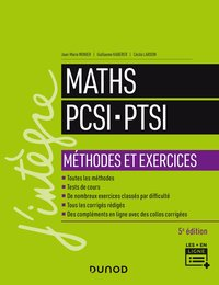Maths PCSI, PTSI : méthodes et exercices