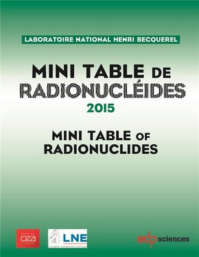 Mini table de radionucléides - 2015