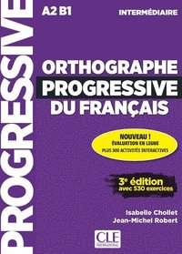 Orthographe progressif inter. 3e.éd. + appli + cd