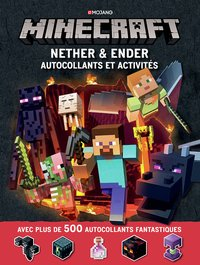 Minecraft : nether et ender autocollants et activites