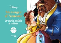Cartes à colorier disney messages d'amour