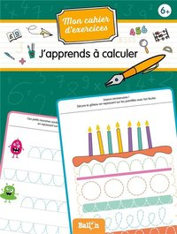Mon cahier d'exercices (wipe and clean) - j'apprends à calculer 6+