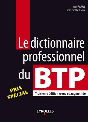 couverture Dictionnaire professionel du BTP