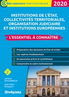 Les institutions état, collectivités territoriales, protection sociale 2020