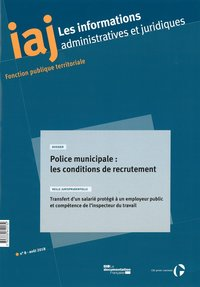 Police municipale : les conditions de recrutement
