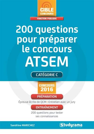 200 Questions Pour Preparer Le Concours Atsem Sandrine Marichez Librairie Eyrolles