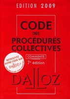 Code des procédures collectives - 2009