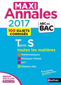 Maxi annales bac 2017 - terminale s