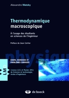 Thermodynamique macroscopique
