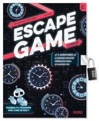 Escape game junior. 3 aventures (le dernier dragon / opération pizza / le hacker fou)