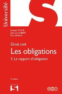 Droit civil - Les obligations - Tome 3