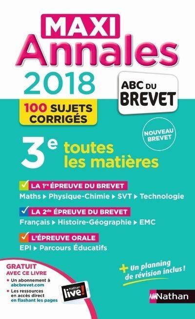 Maxi Annales Abc Du Brevet T 30 Collectif Librairie Eyrolles