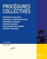Procédures collectives - 2017-2018