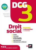 Dcg 3 ; droit social ; manuel et applications