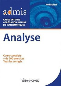 Analyse capes externe et agrégation interne maths