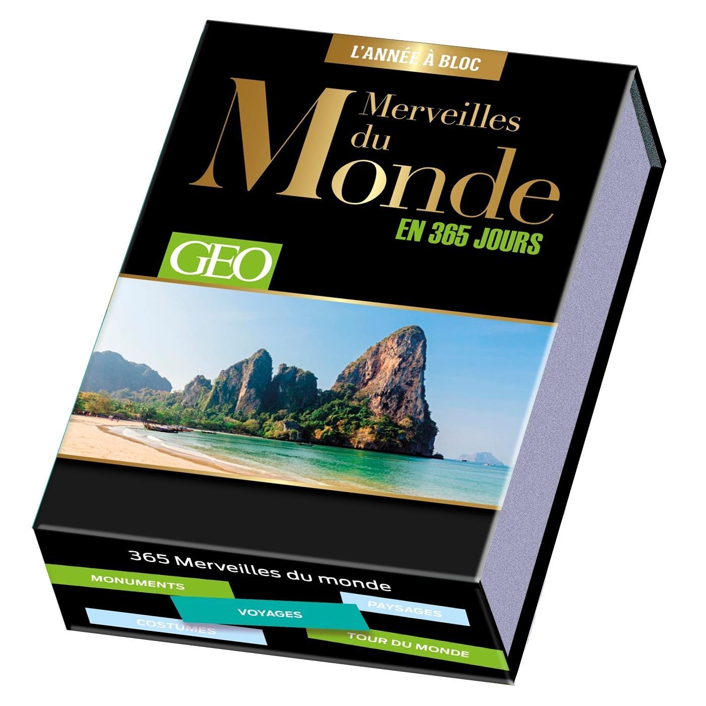 Calendrier Geo Merveilles Du Monde En 365 Jours L Annee A Bloc Librairie Eyrolles