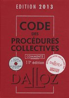 Code des procédures collectives - 2013