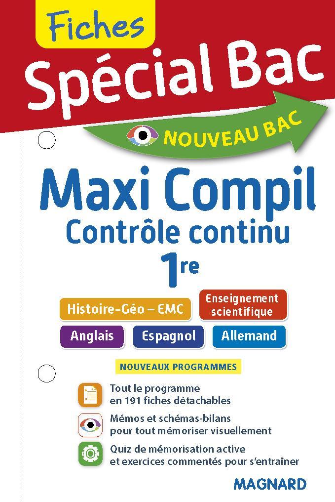 Special Bac Maxi Compil De Fiches 1re Collectif Magnard Librairie Eyrolles