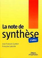 J.-F.Guédon, F.Laborde - La note de synthèse